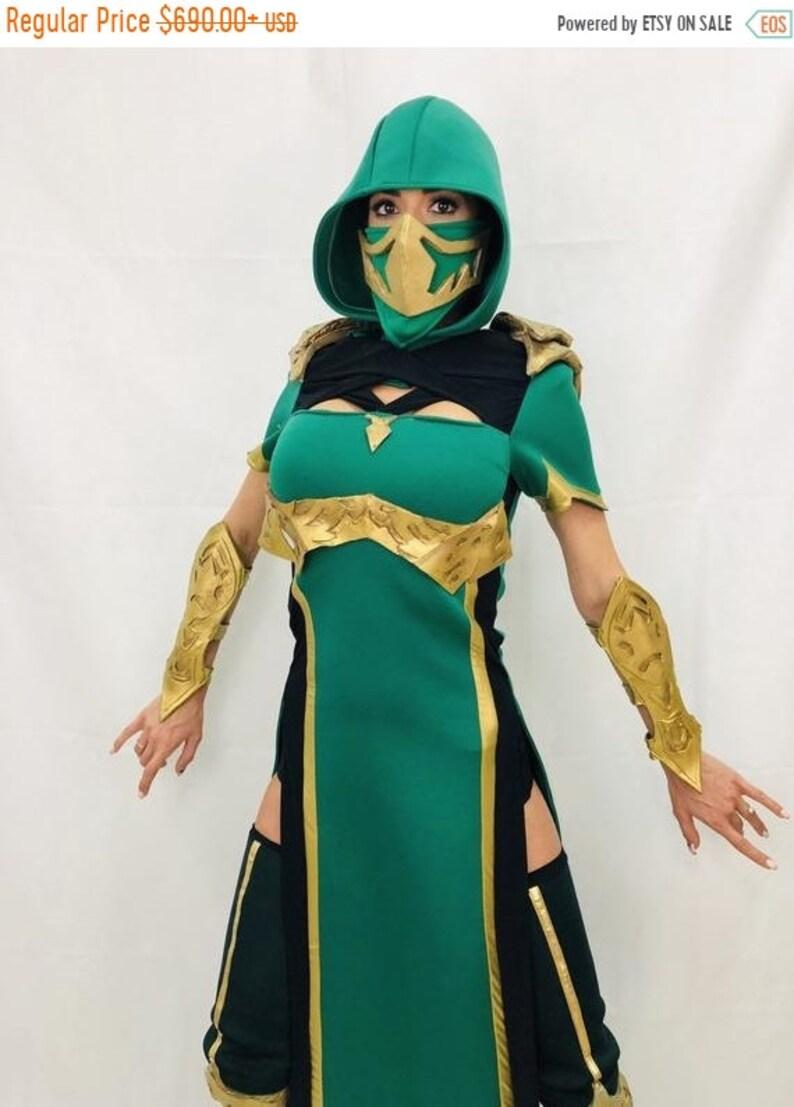On Sale Jade Costume Jade Mk 11 Cosplay Costume Mortal Etsy