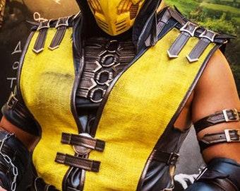 Mortal Kombat Scorpion cosplay vest / MK X Scorpion tabard