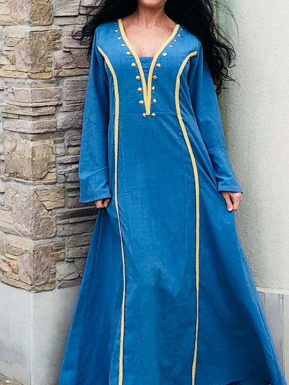 Wikinger Kleid/Wikinger inspiriert Kleid/Mittelalter Kleidung | Etsy