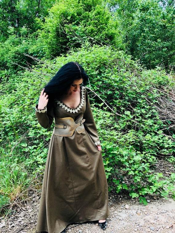 Keltische Kleid/Wikinger-Kostüm/Wikinger-Kleid und Mantel mit | Etsy