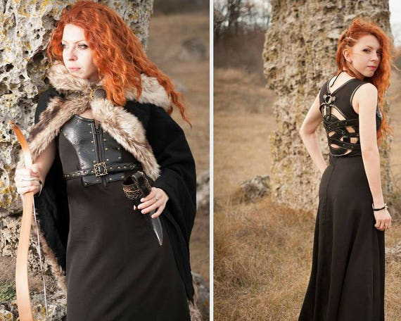 keltische kleid wikinger kost m wikinger kleid und mantel mit etsy. Black Bedroom Furniture Sets. Home Design Ideas
