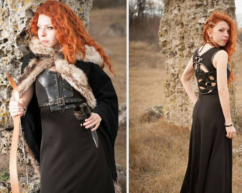 Celtic Dress Viking Costume Viking Dress And Mantle With Etsy