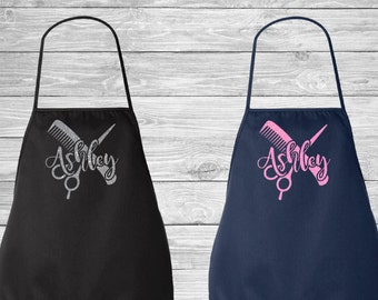 Hair Stylist Bling Glitter Design Personalized Apron