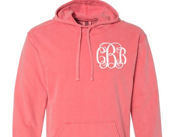 d5816d6bf0d Monogrammed Comfort Colors Terry Hoodie Pullover