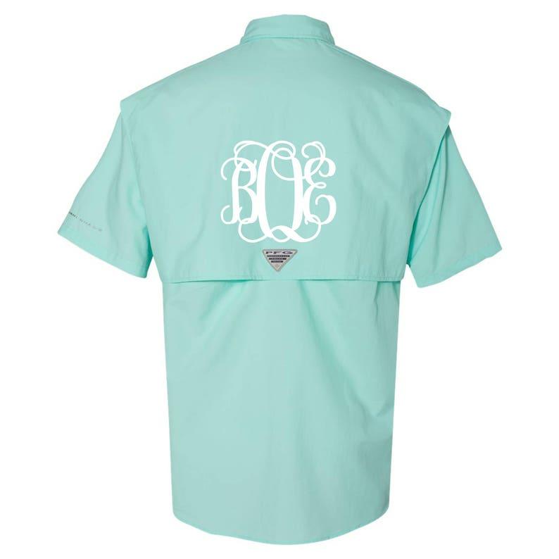 ef463927a Monogrammed Columbia Men's PFG Bahama Short Sleeve Fishing | Etsy