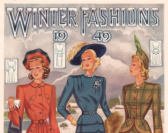 1940s Australian Home Journal Catalog [DIGITAL/PDF] Winter Fashions 1949