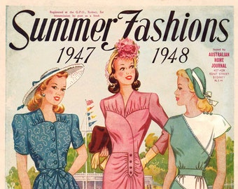1940s Australian Home Journal Catalog [DIGITAL/PDF] Summer Fashions 1947-48