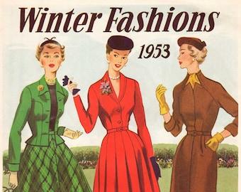 1950s Australian Home Journal Catalog [DIGITAL/PDF] Winter Fashions 1953