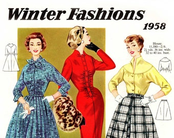1950s Australian Home Journal Catalog [DIGITAL/PDF] Winter Fashions 1958