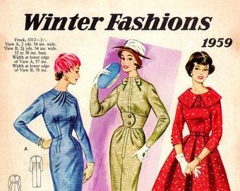 0e7e5e853 1950s Australian Home Journal Catalog  DIGITAL PDF  Winter Fashions 1959