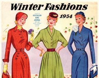 1950s Australian Home Journal Catalog [DIGITAL/PDF] Winter Fashions 1954