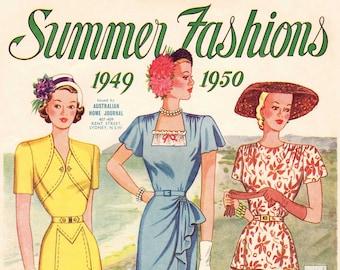 1940s Australian Home Journal Catalog [DIGITAL/PDF] Summer Fashions 1949-50