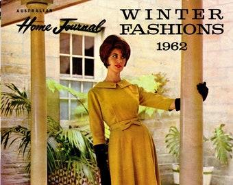 1960s Australian Home Journal Catalog [DIGITAL/PDF] Winter Fashions 1962