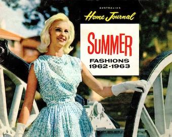 1960s Australian Home Journal Catalog [DIGITAL/PDF] Summer Fashions 1962-63