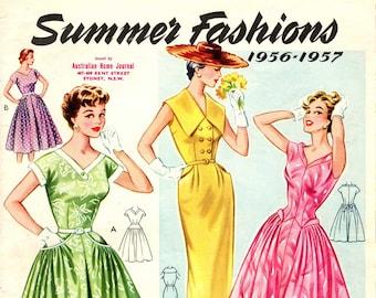 1950s Australian Home Journal Catalog [DIGITAL/PDF] Summer Fashions 1956-57