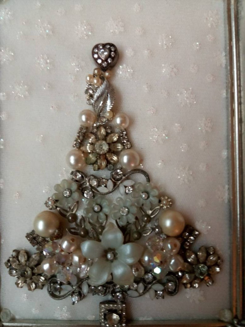 Silver And White Christmas Tree Etsy