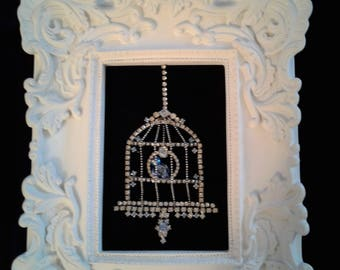 Bluebird of Happiness Framed jewelry Art