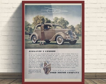 Ford V-8 (1936) Vintage Ad