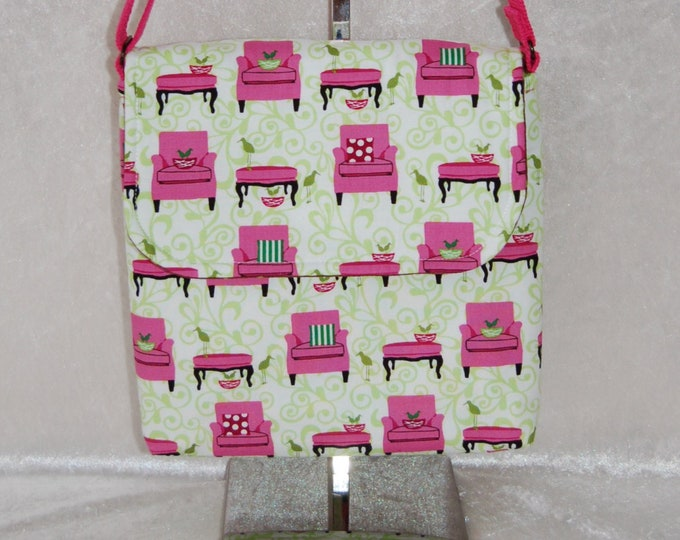 Chairs shoulder bag purse cross body crossbody travel fabric