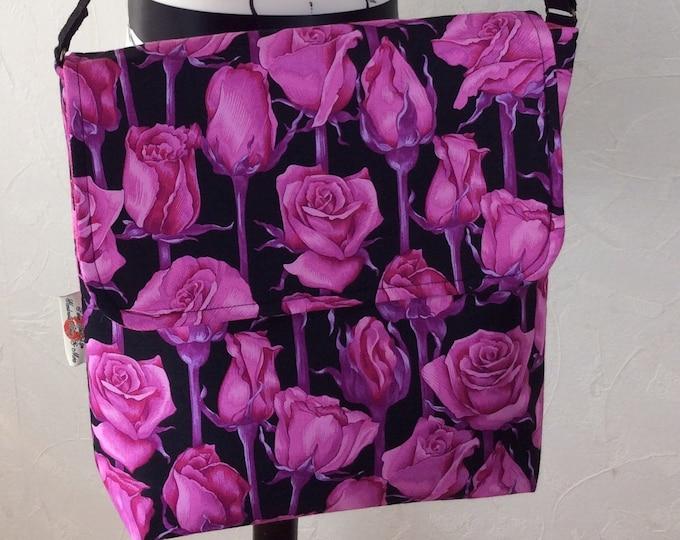 Roses Flowers shoulder bag purse messenger cross body crossbody travel fabric
