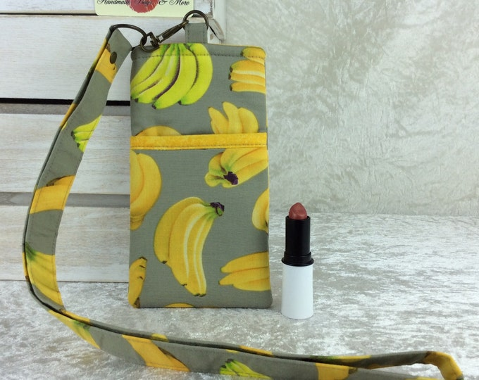 Bananas Lanyard pouch case cover cell mobile phone glasses
