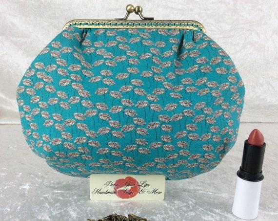 Flowers small frame handbag purse bag fabric clutch shoulder bag frame purse kiss clasp bag Handmade Flowers Heads Seeds