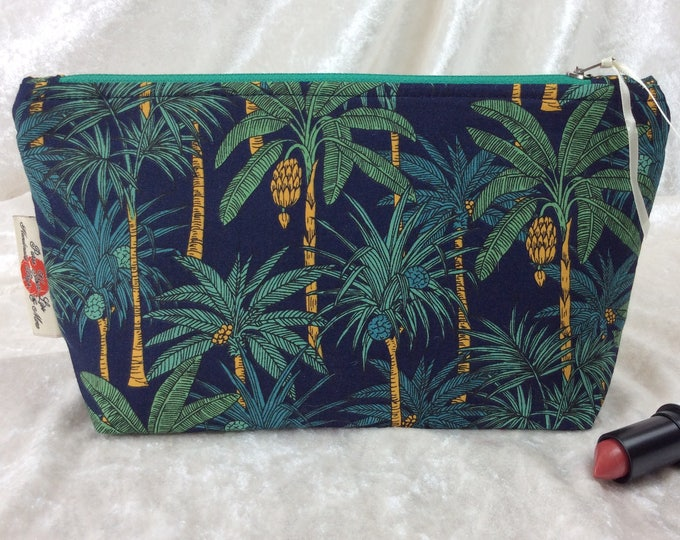 Palm Trees Zipper case zip pouch fabric bag pencil case purse pouch Palms
