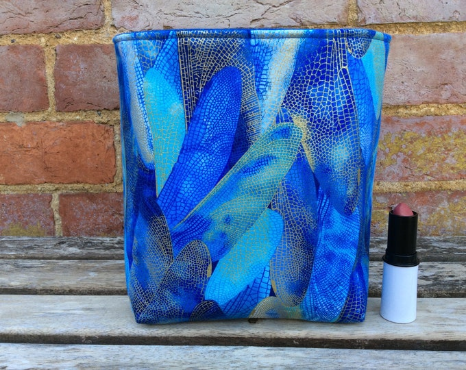 Featured listing image: Basket storage bin box fabric handmade dragonfly wings