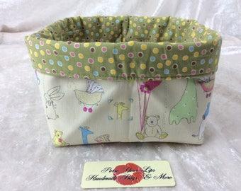 Nursery Fabric basket storage bin box