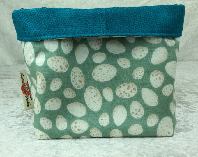 Eggs Fabric basket storage bin box birds Eggs