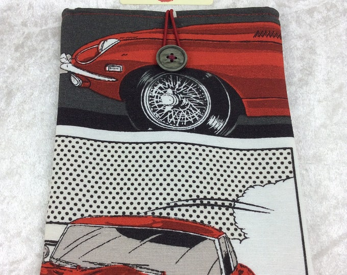 E-Type Jaguar Tablet Case Cover Pouch iPad Kindle Small Classic cars