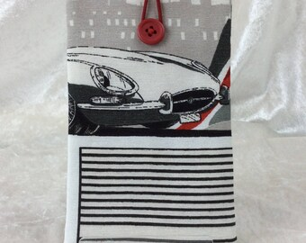 E-Type Jaguars Mobile Cell Phone Glasses Case Cover Pouch Classic Cars