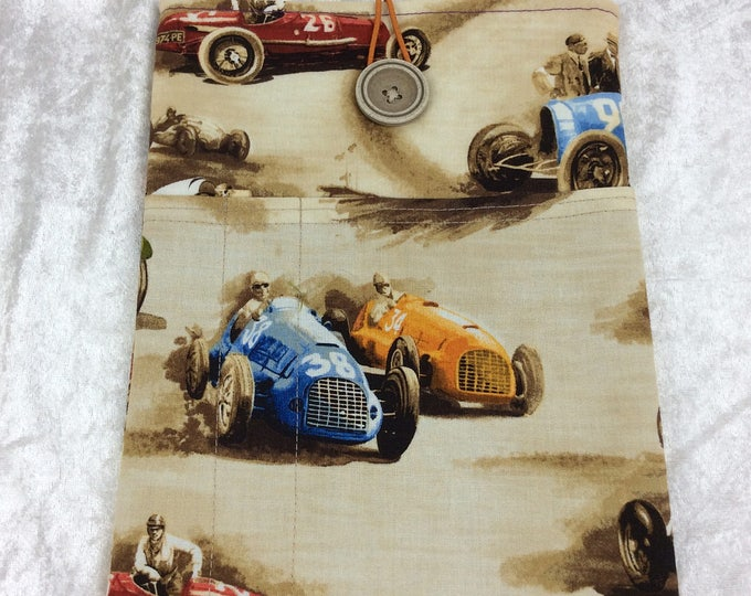 Racing cars Tablet Case Cover Pouch iPad Kindle Medium Vintage Classic Cruisers