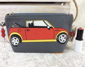BMW Mini Cars Zipper case zip pouch fabric bag pencil case purse pouch Minis