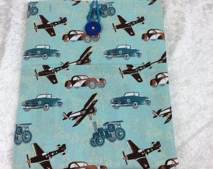 Planes and Steam Tablet Case Cover Pouch iPad Kindle Small