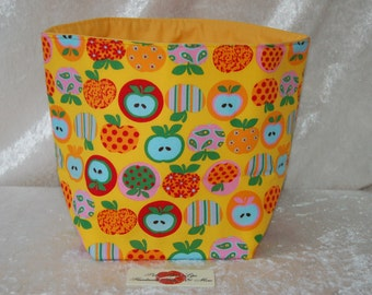Apples Fabric basket storage bin box