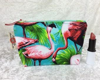 Flamingos Zipper case zip pouch fabric bag pencil case purse pouch Tropical Birds