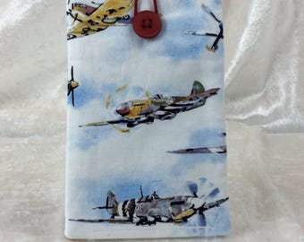 Planes Aeroplanes Mobile Cell Phone Glasses Case Cover Pouch Fighter Planes