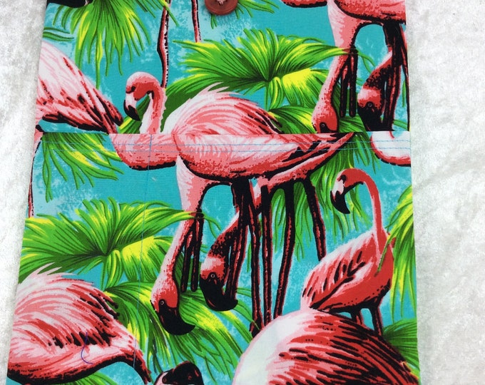 Flamingos Tablet Case Cover Pouch iPad Kindle Large Tropical Birds