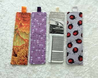 Fabric Bookmarks Handmade Bookmarks Cabbages Seeds Cars ladybirds ladybugs
