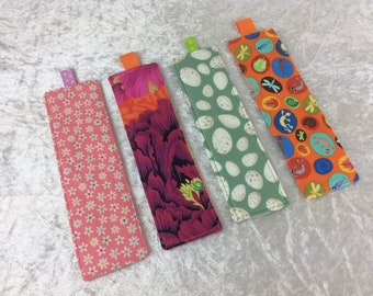 Fabric Bookmarks Handmade Bookmarks Flowers Pink Eggs Bugs Dinosaurs