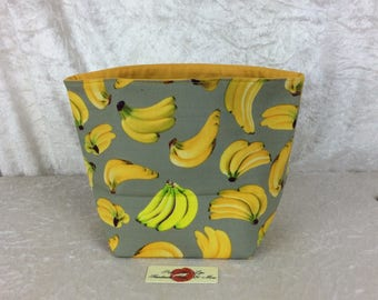 Bananas Fabric basket storage bin box