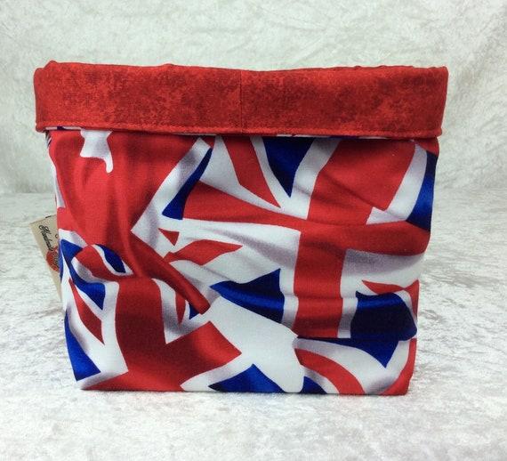 Basket storage bin box fabric handmade Union Flags Jacks