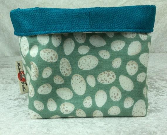 Basket storage bin box fabric handmade Eggs
