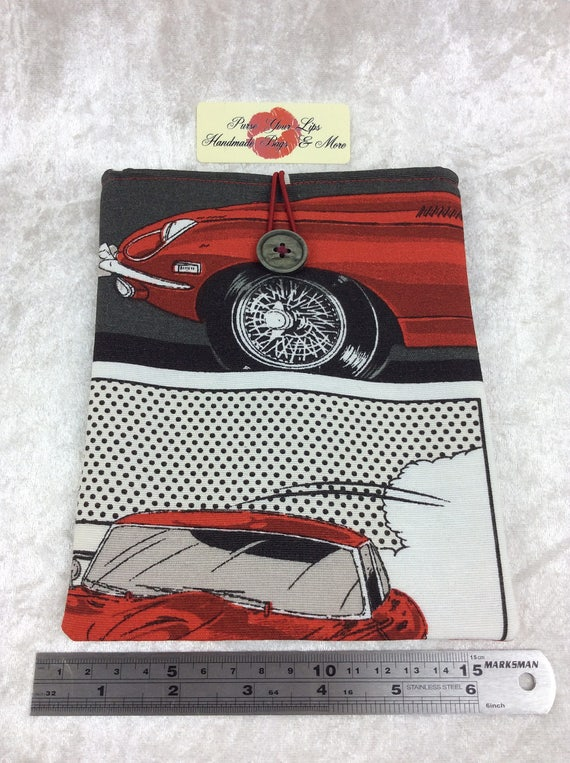 Tablet Case Cover Pouch iPad Kindle Small Handmade E-Type Jaguar Classic cars