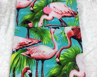 Handmade Tablet Case Cover Pouch iPad/Kindle MEDIUM Flamingos