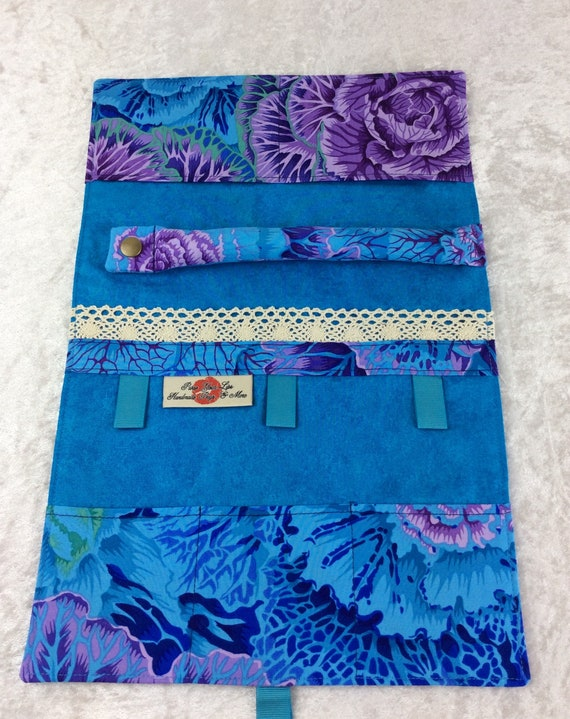 Cabbages Jewellery roll Jewelry organiser travel wrap case pouch Brassica Kaffe Fassett Philip Jacobs