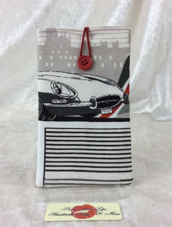 Mobile Cell Phone Glasses Sunglasses Case Cover Pouch Handmade E-Type Jaguars Classic Cars