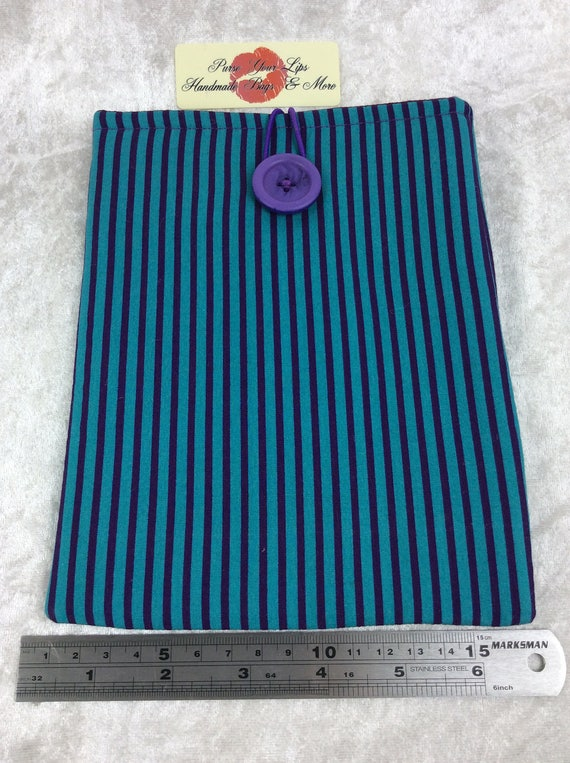 Tablet Case Cover Pouch iPad Kindle Small Handmade Stripy Stripes