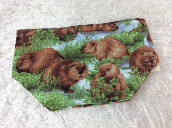 Basket storage bin box fabric handmade Beavers